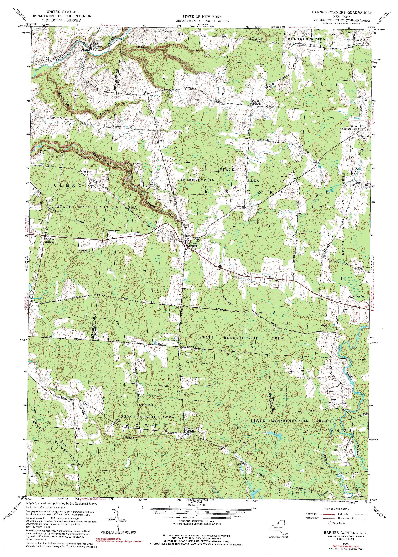 New York Topo Maps (7.5 minute Topographic Maps) 1:24,000 scale