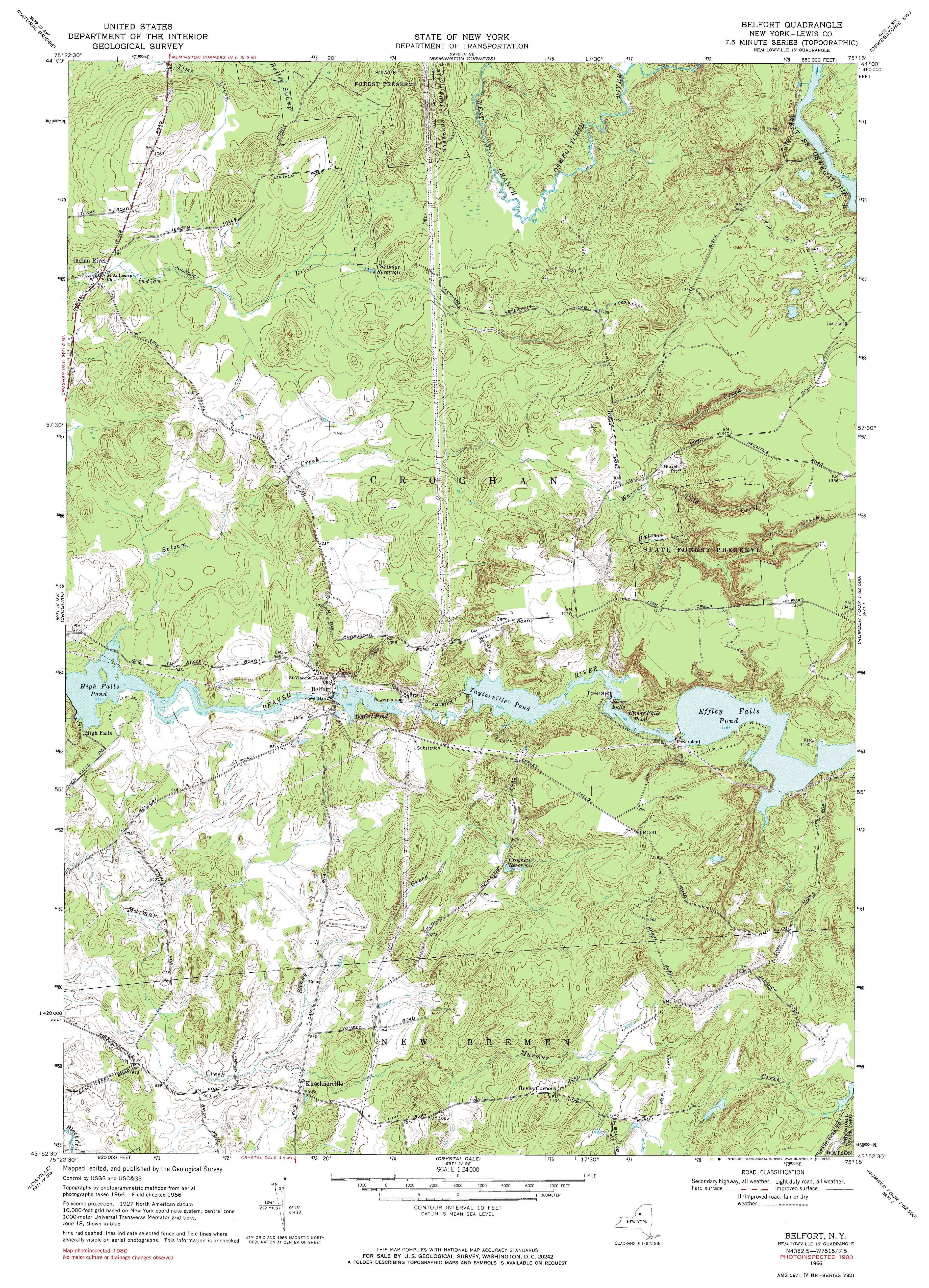 Topographic Map Usgs.New York Topo Maps 7 5 Minute Topographic Maps 1 24 000 Scale