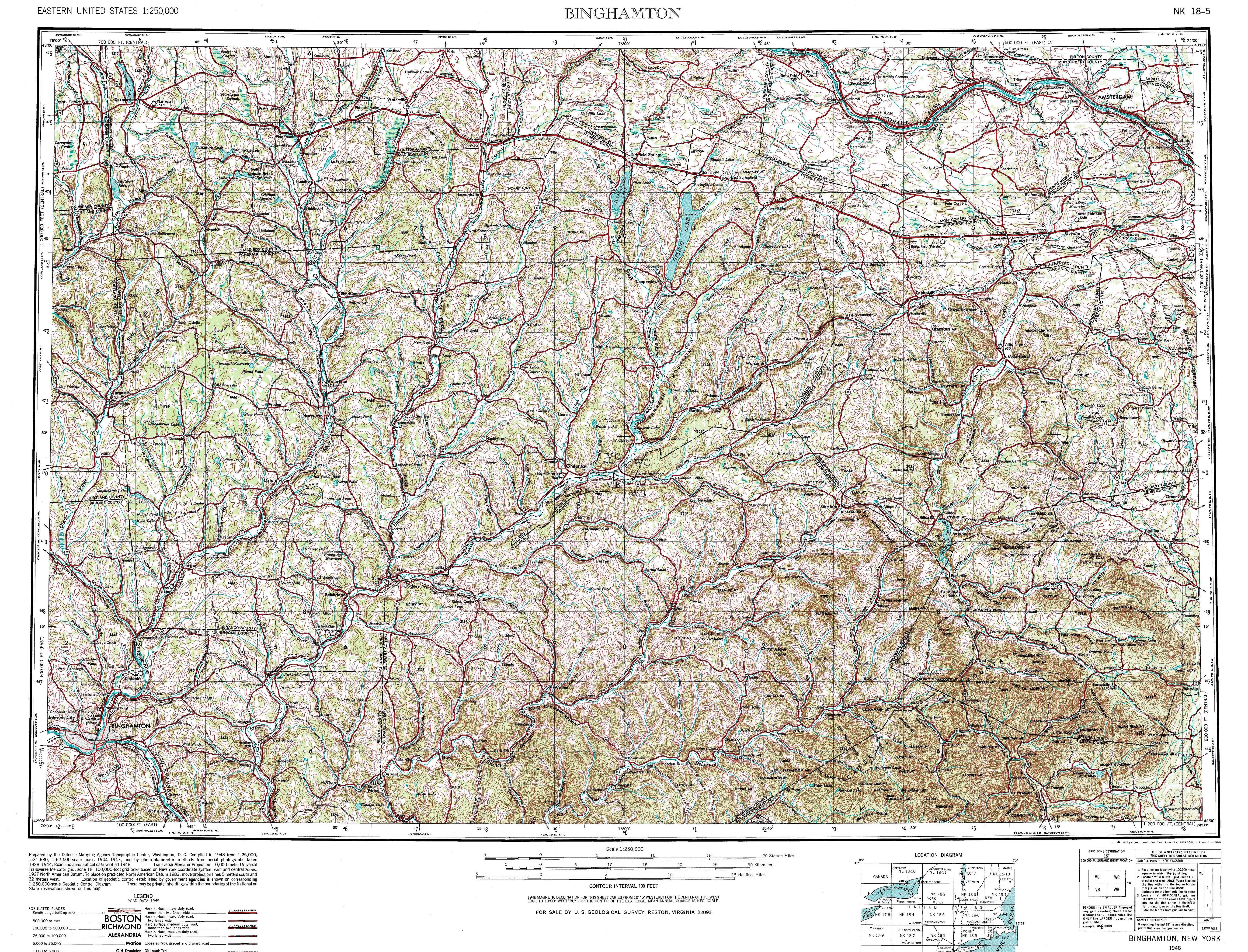 New York Topo Maps Topographic Maps 1 250 000