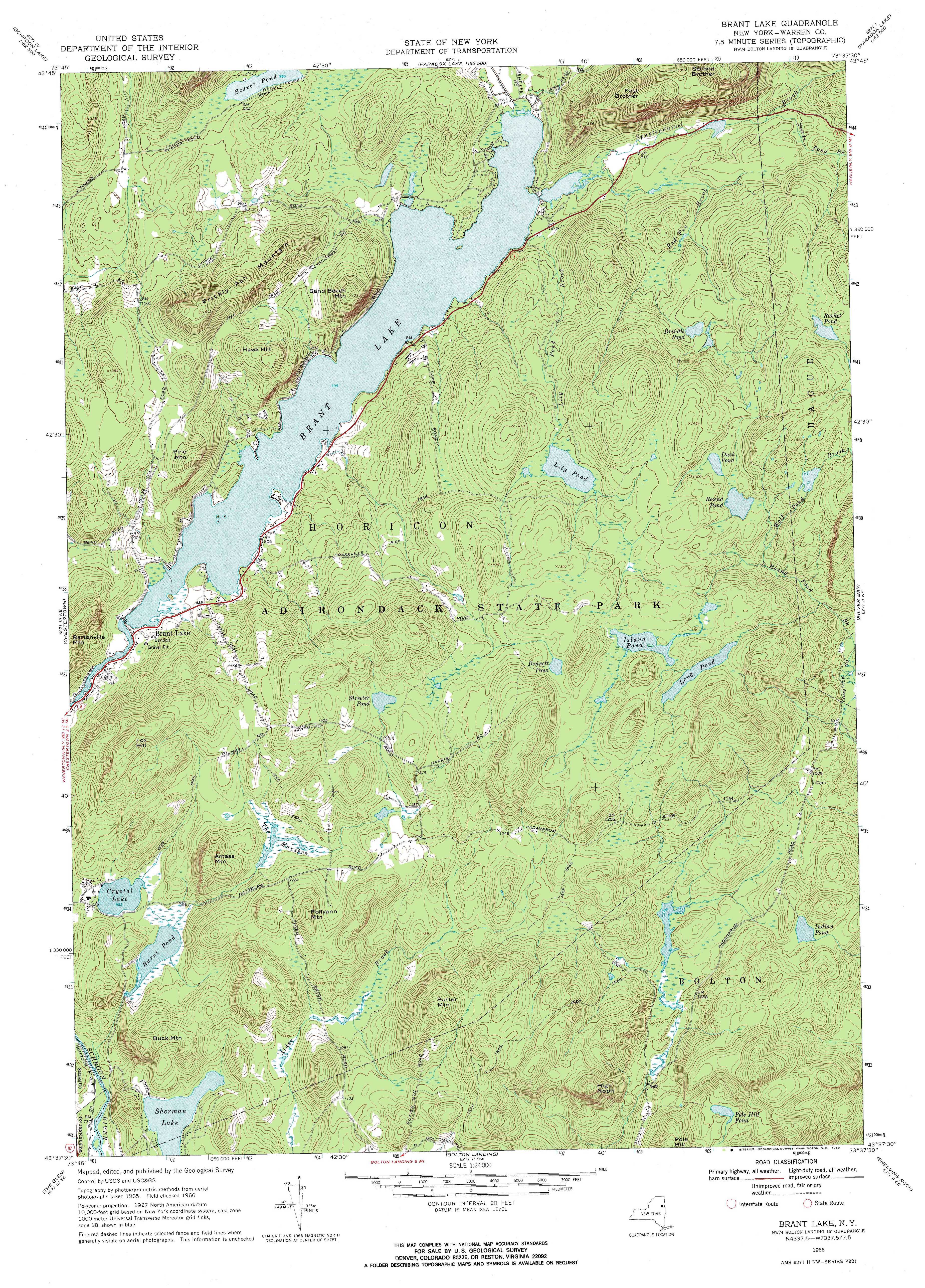 New York Topo Maps 75 minute Topographic Maps 124000 scale