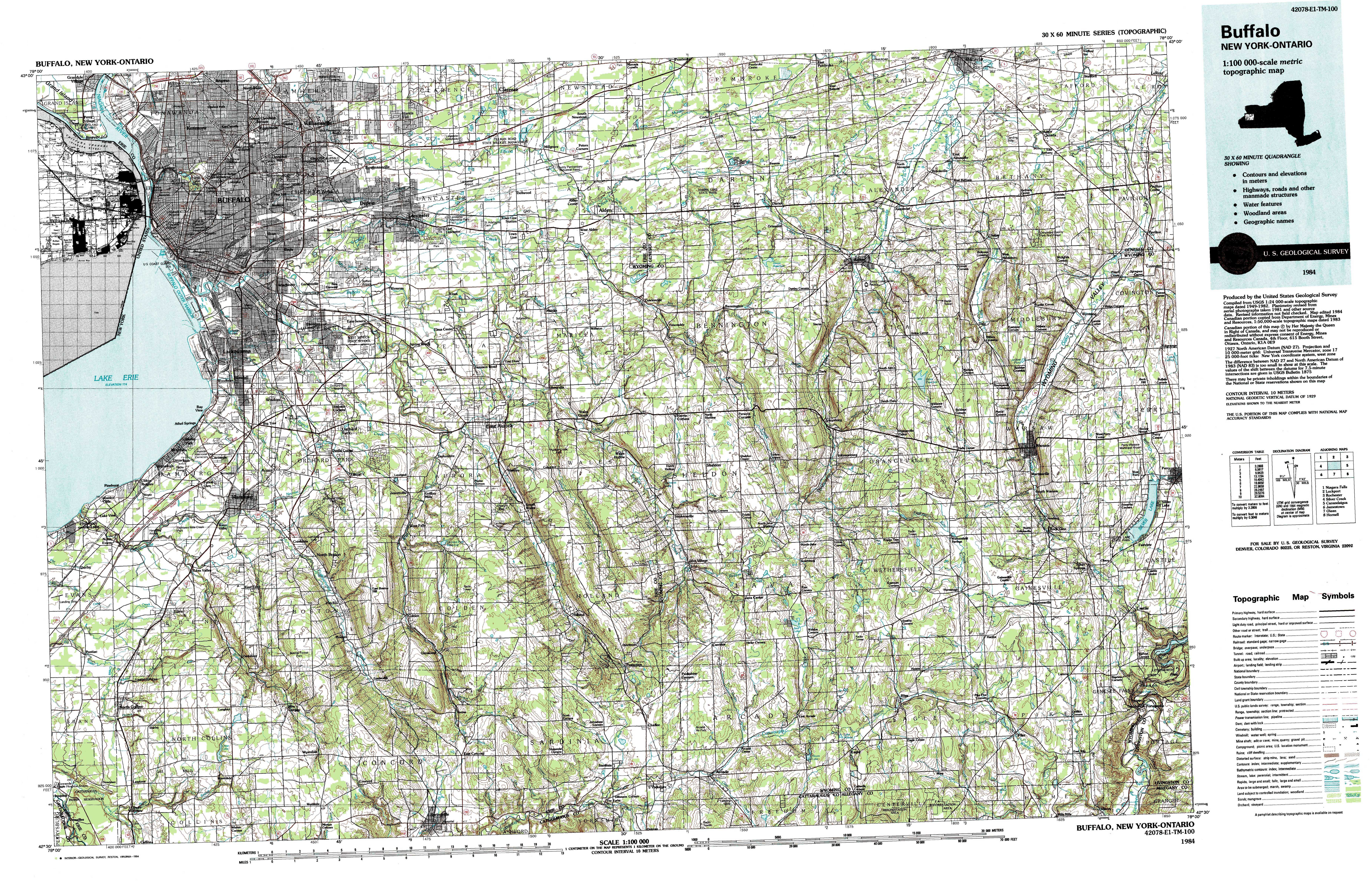 New York Topo Maps Topographic Maps - Mapof ny