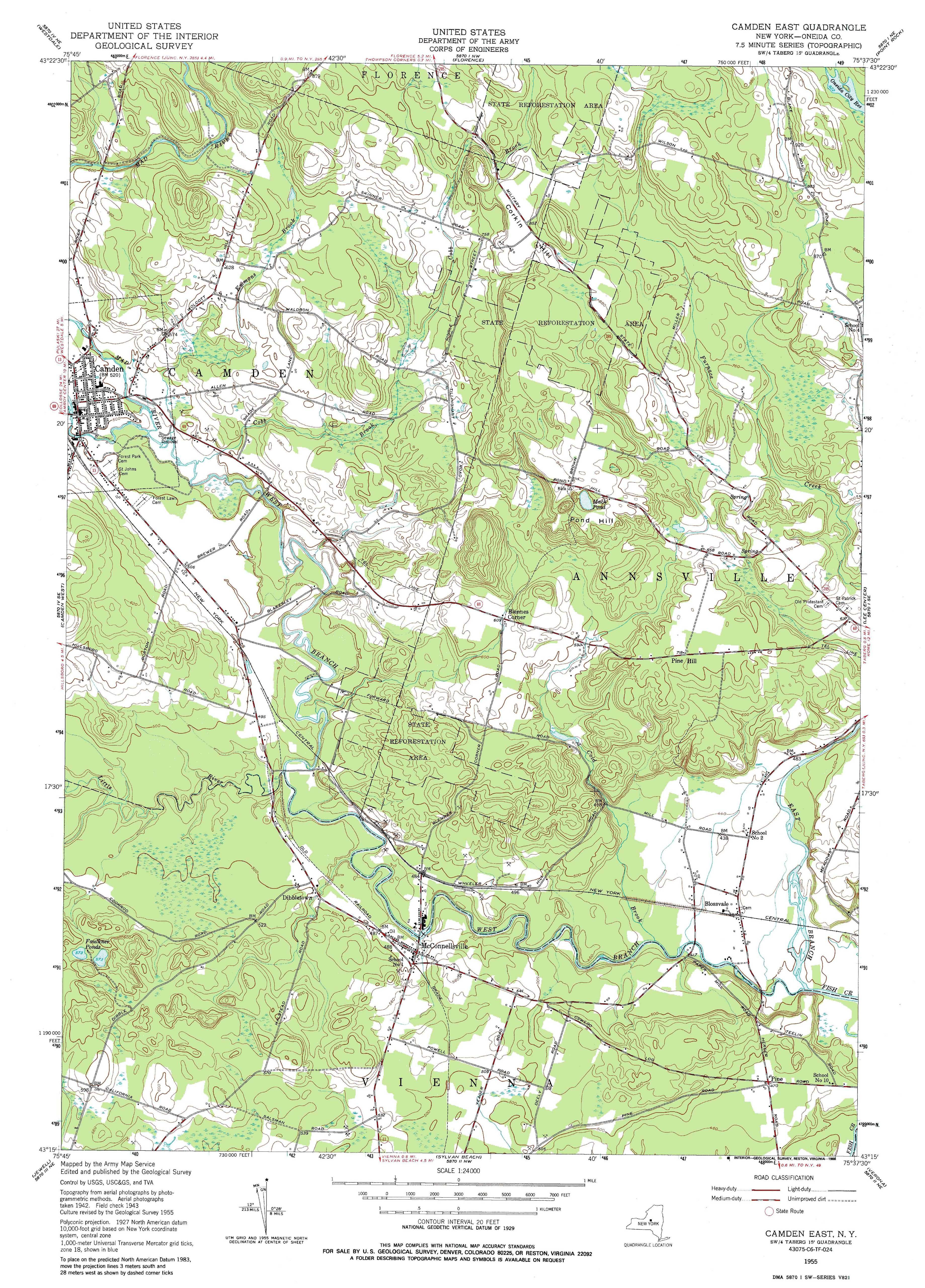 New York Topo Maps 75 minute Topographic Maps 124000 scale – Road Map Nyc