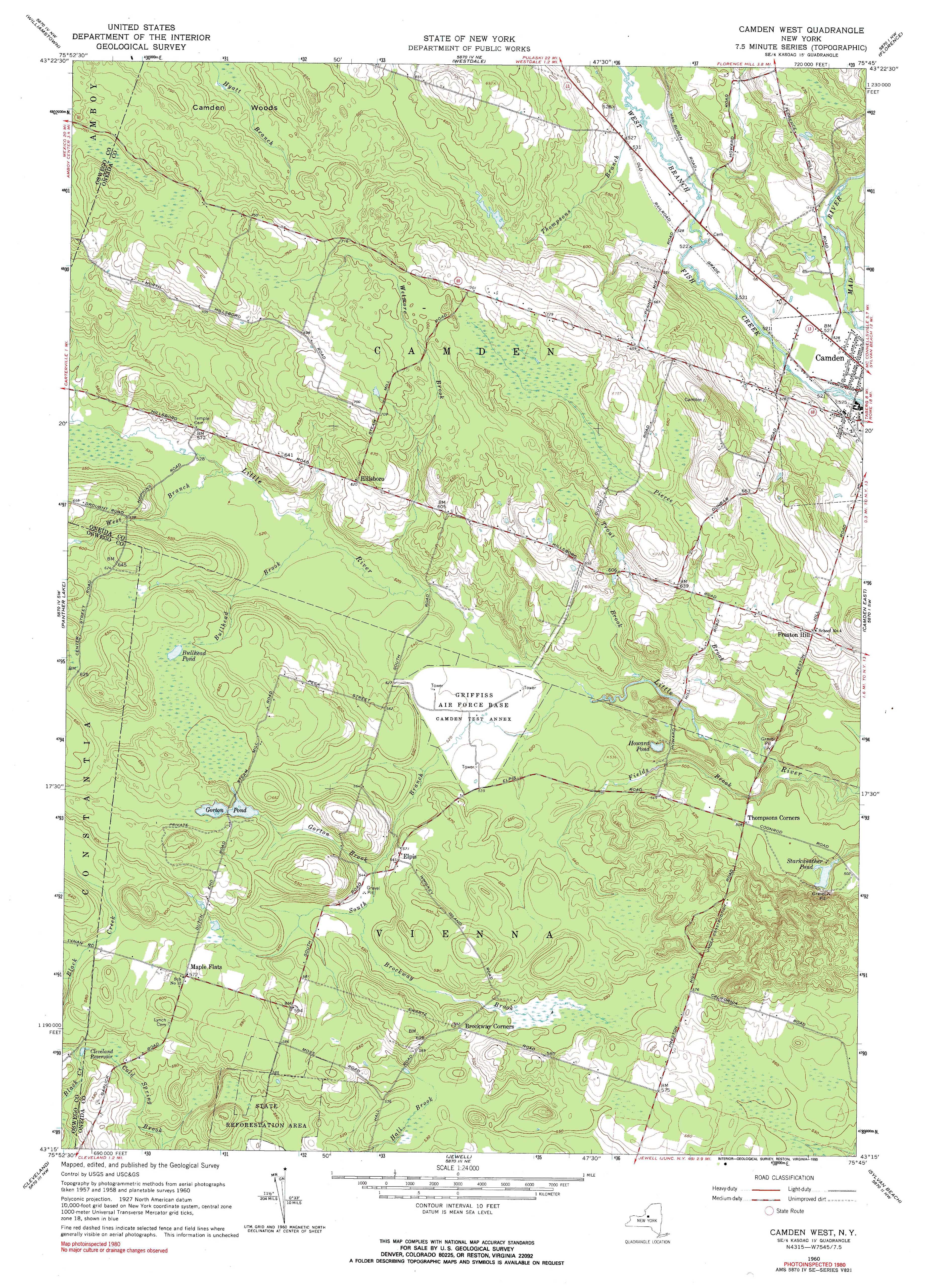 New York Topo Maps Minute Topographic Maps Scale - Where to buy us topo maps