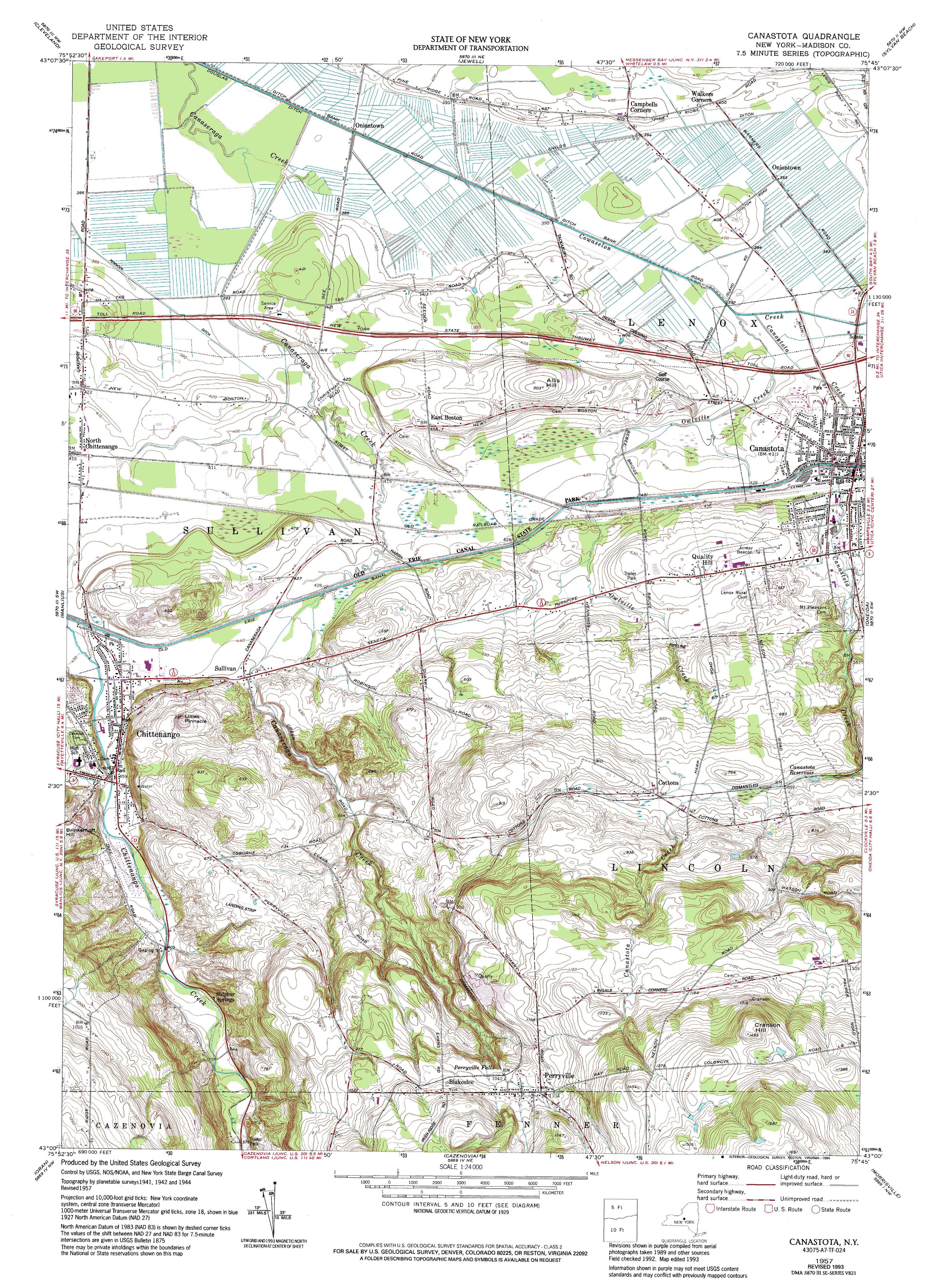 New York Topo Maps Minute Topographic Maps Scale - Us geological survey topographic maps for sale