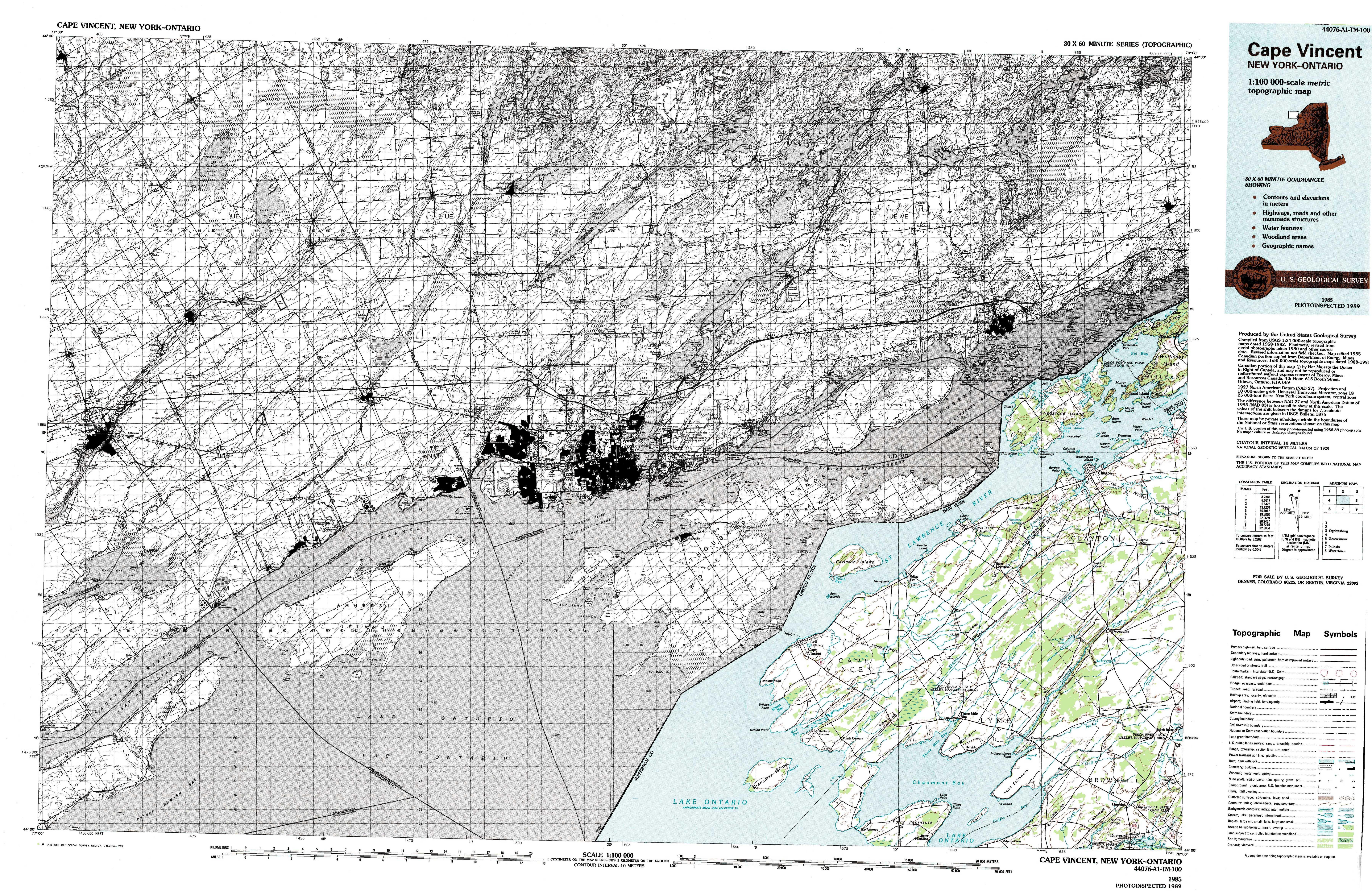 new york topo maps (topographic maps) 1:100,000