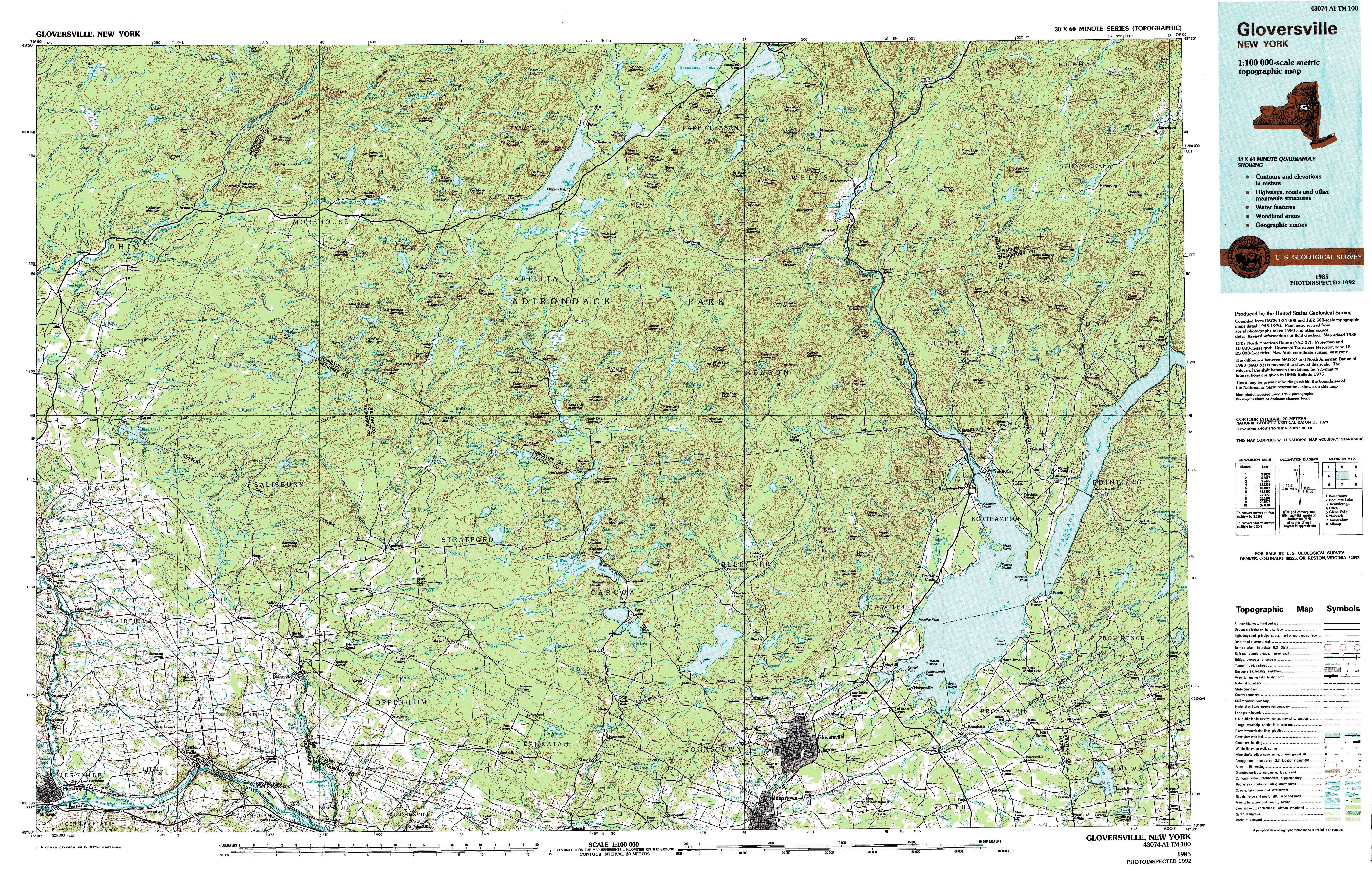 New York Topo Maps Topographic Maps - Map of new york state