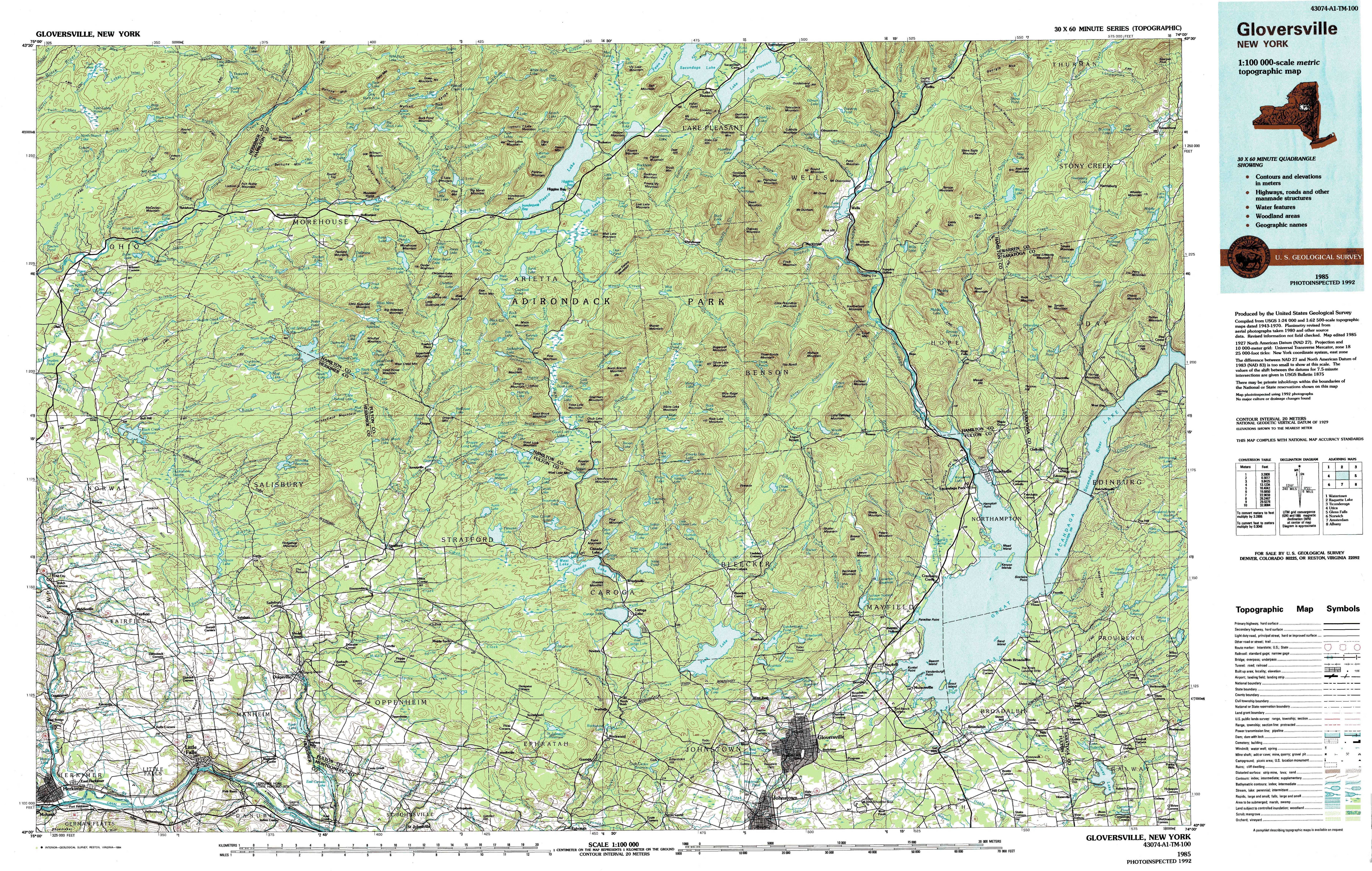 New York Topo Maps Topographic Maps 1 100 000