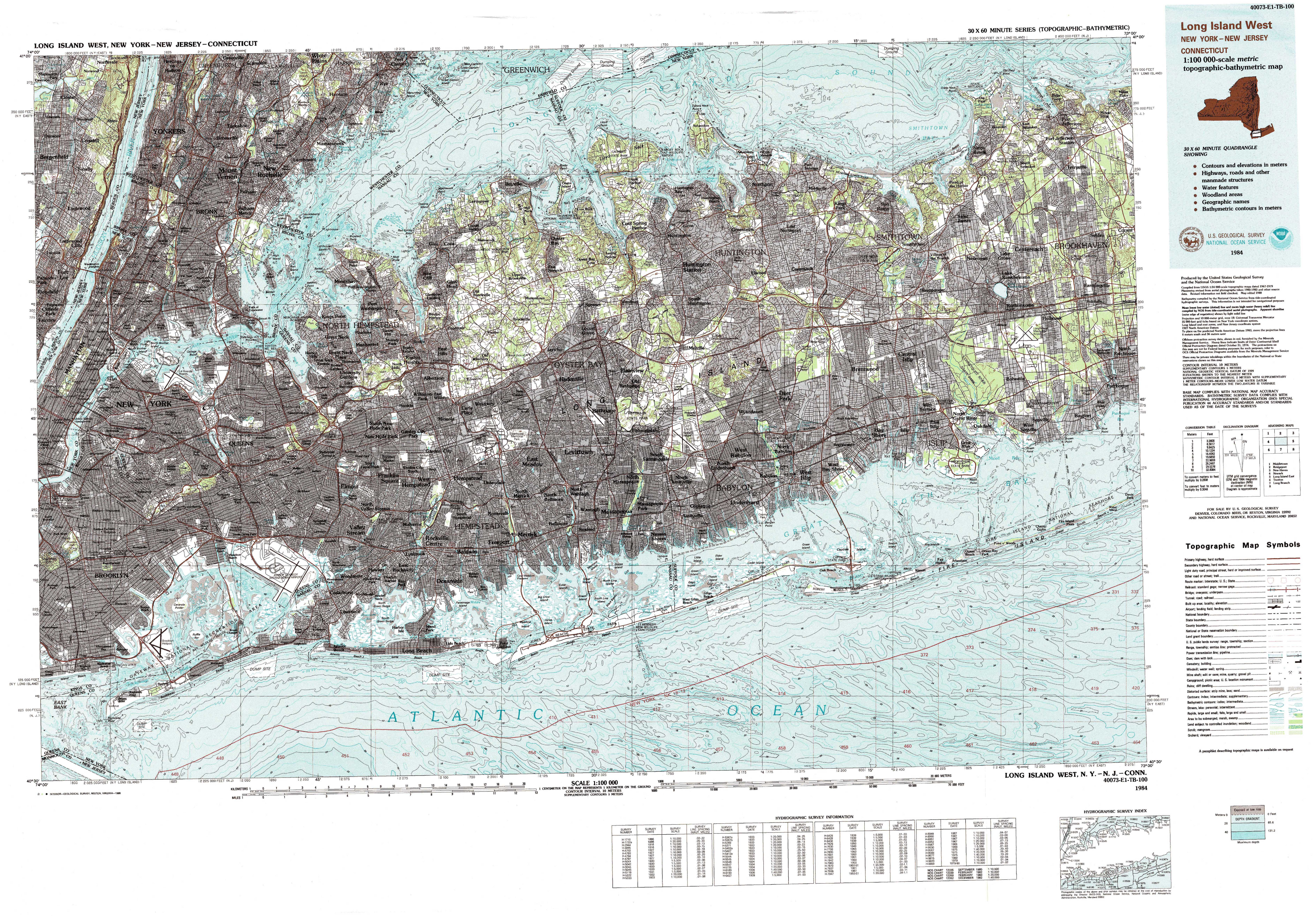 New York Topo Maps (Topographic Maps) 1:100,000