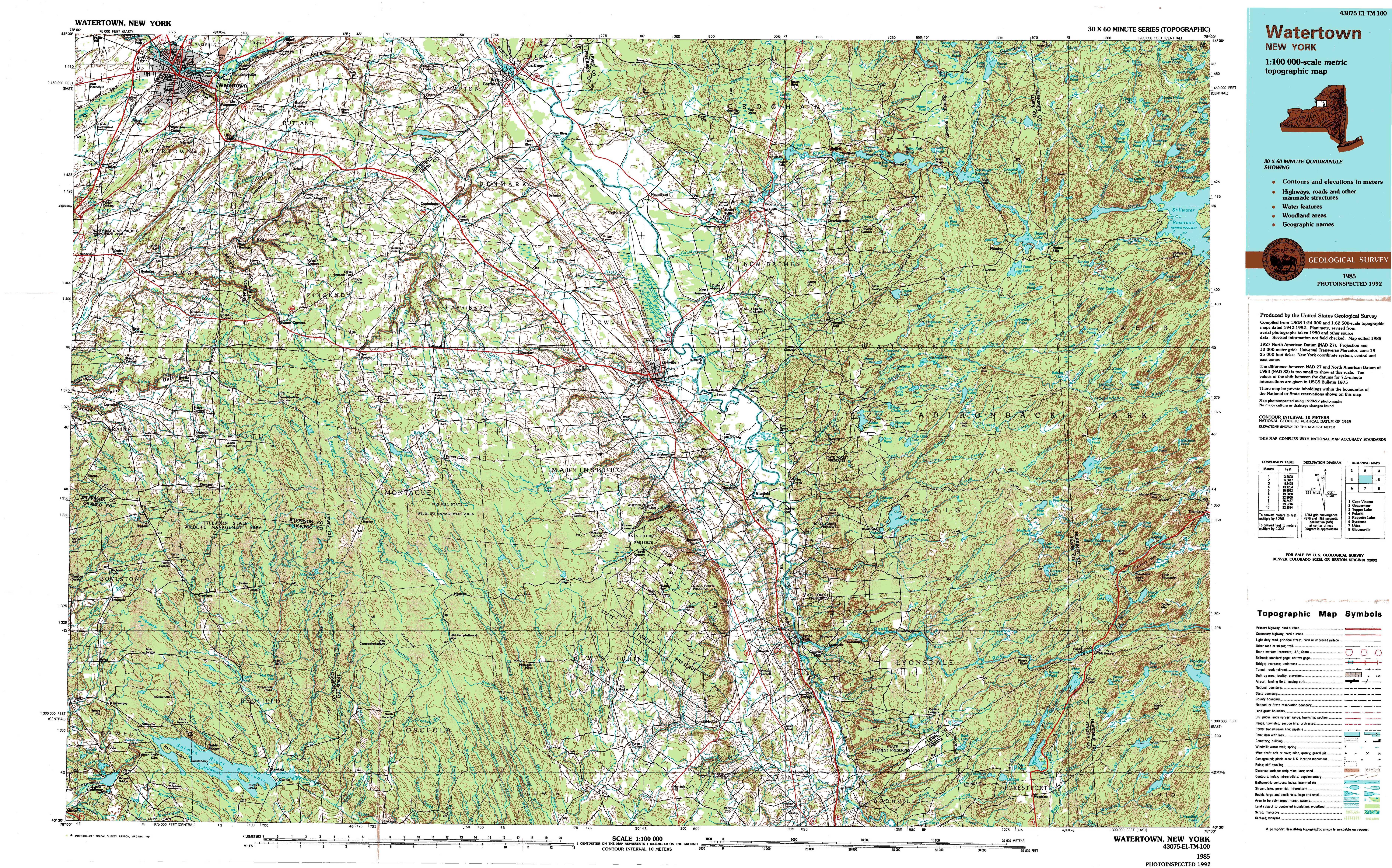 New York Topo Maps Topographic Maps - New york city elevation map